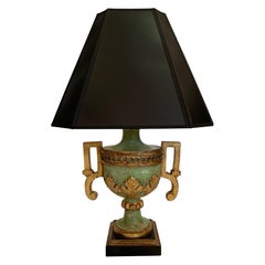 Neoclassical Style Green and Gilt Table Lamp