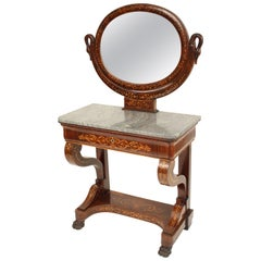 Neoclassical Style Inlaid Vanity