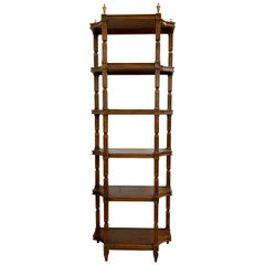 Neoclassical Style Mahogany Étagère Bookcase Bookshelf