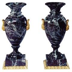 Neoclassical Style Marble and Bronze Vase by Gherardo Degli Albizzi