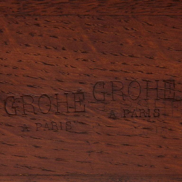 Neoclassical Style Marquetry and Gilt Bronze Writing Desk by Grohé For Sale 2