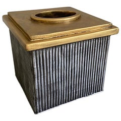 Neoclassical Style Metal Tissue Box Cover