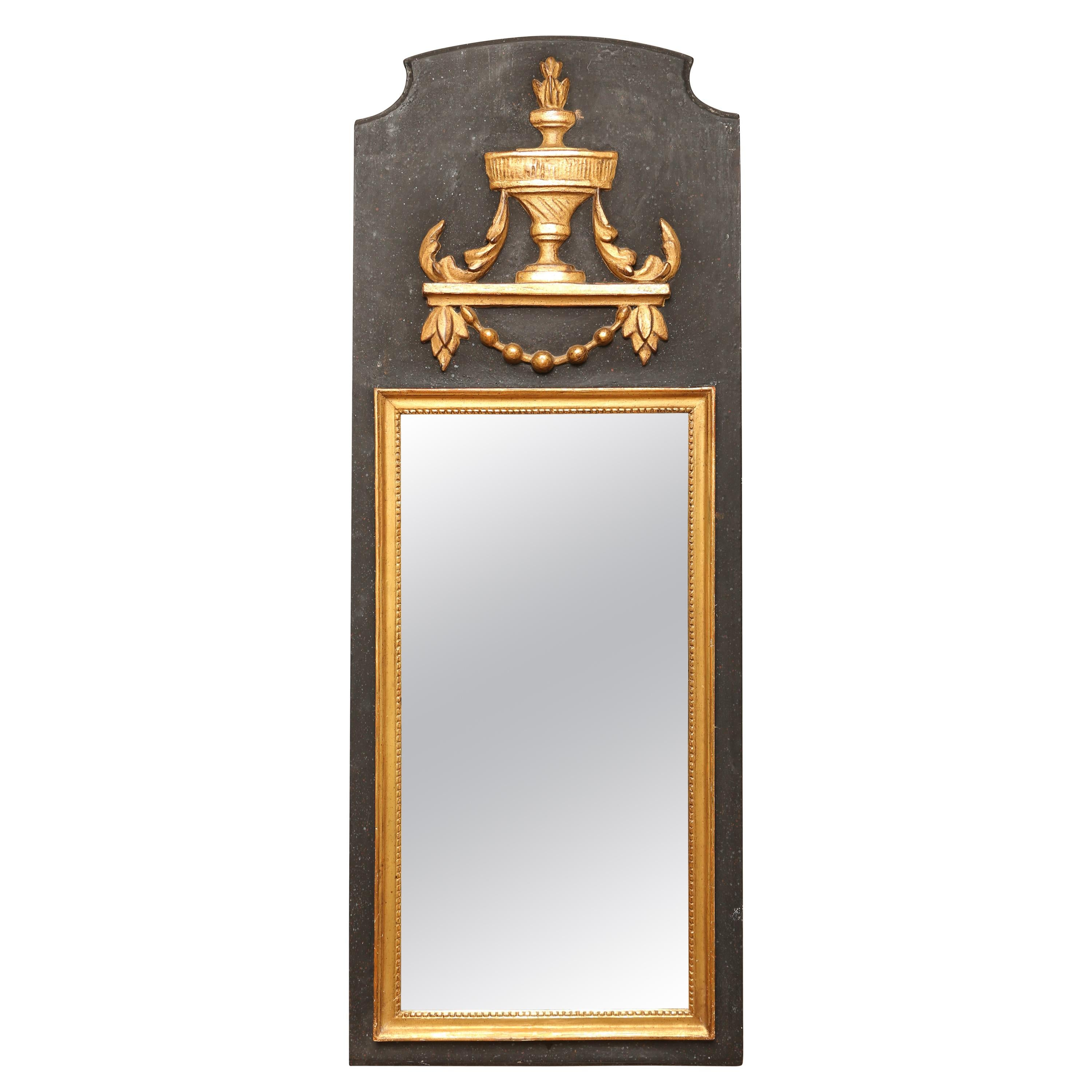 Neoclassical Style Painted and Gilded Mirror