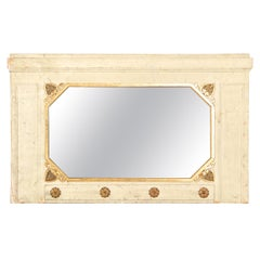 Neoclassical Style Painted and Gilt Decorated Mirror