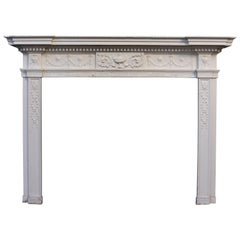 Neoclassical Style Painted Fire Surround