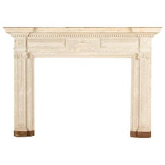 Neoclassical Style Painted Fireplace Mantel, circa 1900