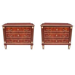 Neoclassical Style Pair of Chests
