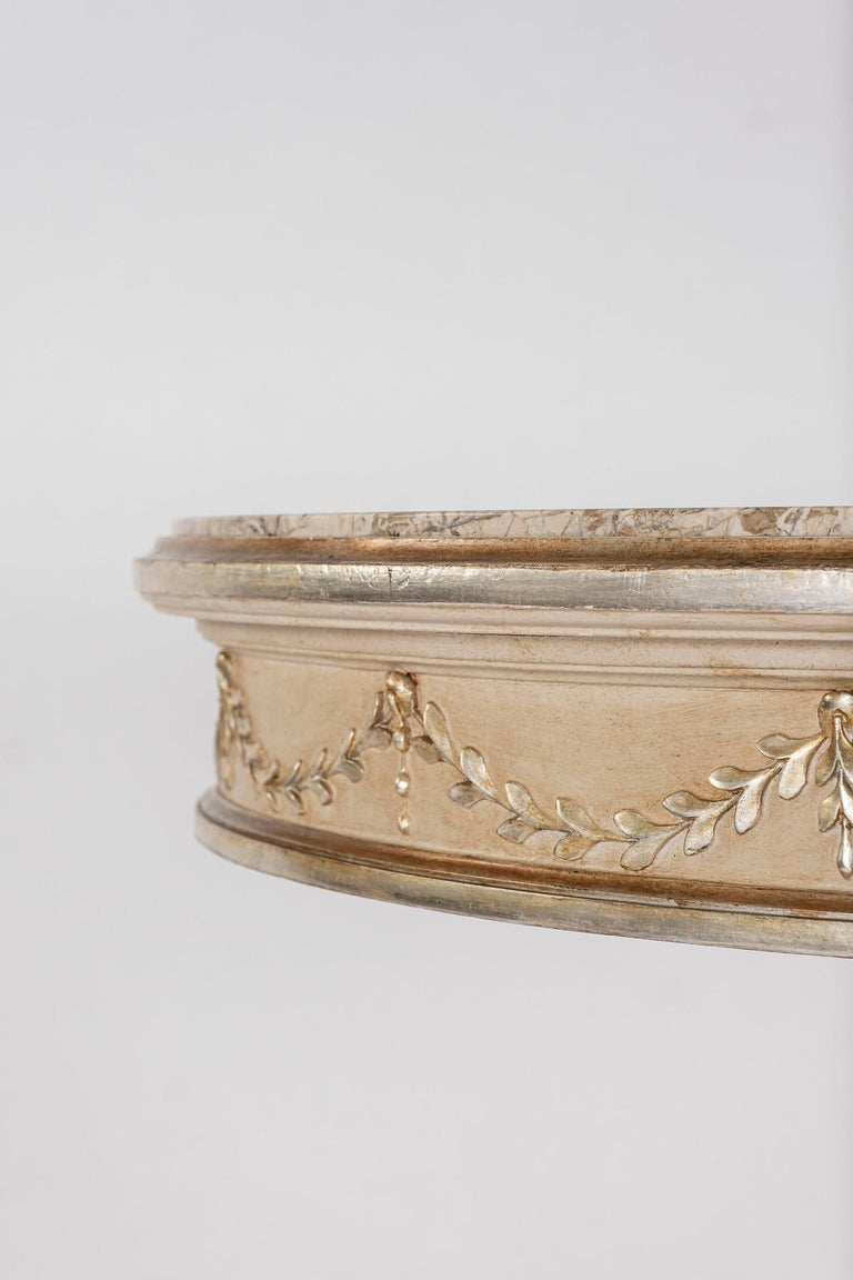 20th Century Neoclassical Style Polychrome Giltwood Center Table For Sale