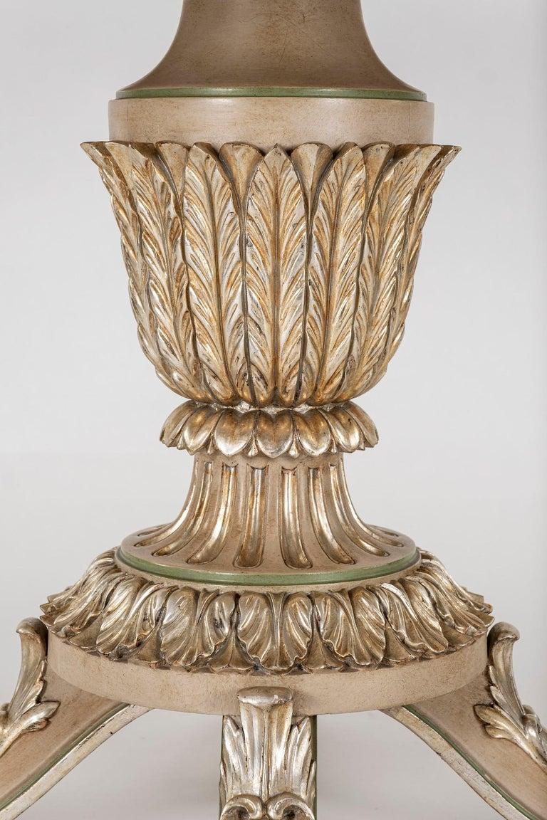 Neoclassical Style Polychrome Giltwood Center Table For Sale 2