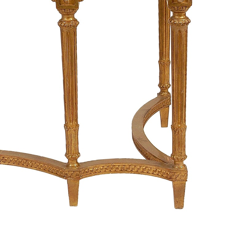 Late 20th Century Neoclassical Style Rectangular Gold Foil Calacatta Viola Marble Spanish Console For Sale