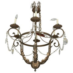 Neoclassical Style Six-Light Chandelier