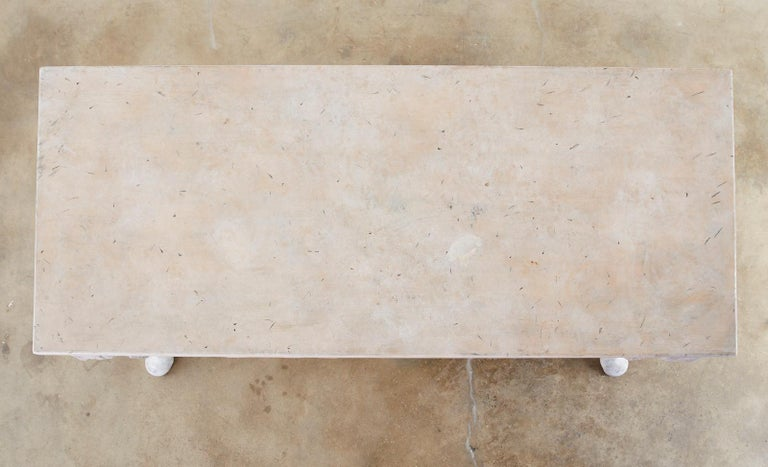 Neoclassical Style Trompe l'oeil Draped Library Table Desk For Sale 7