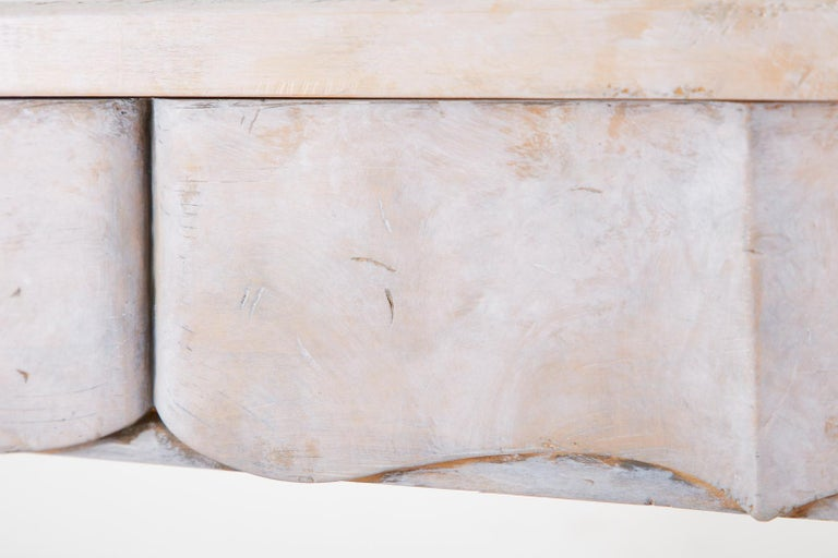 Neoclassical Style Trompe l'oeil Draped Library Table Desk For Sale 10