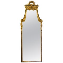 Neoclassical Style Wall Mirror in Giltwood