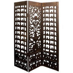 Neoclassical Style Wrought Iron Screen or Room Divider, circa 1920