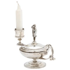 Neoclassical Tiffany Sterling Silver Combination Table Lighter/ Ashtray