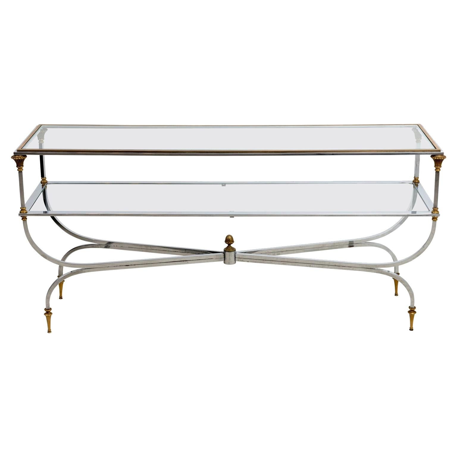 Neoclassical Two Tier Console Table
