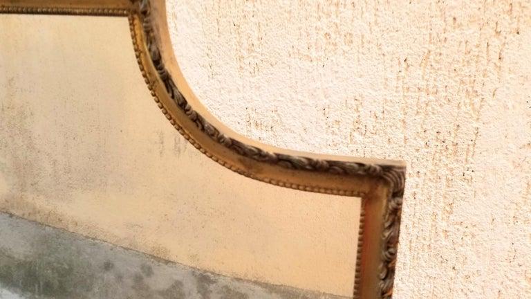 Neoclassical Venetian Brass Standing Mirror For Sale 1