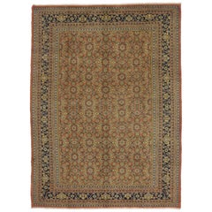 Neoclassical Vintage Persian Mahal Area Rug with Traditional Style