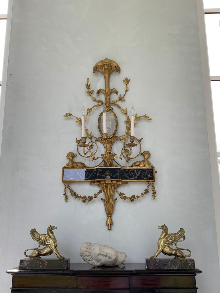 Pair of Neoclassical Wall Sconces For Sale 3