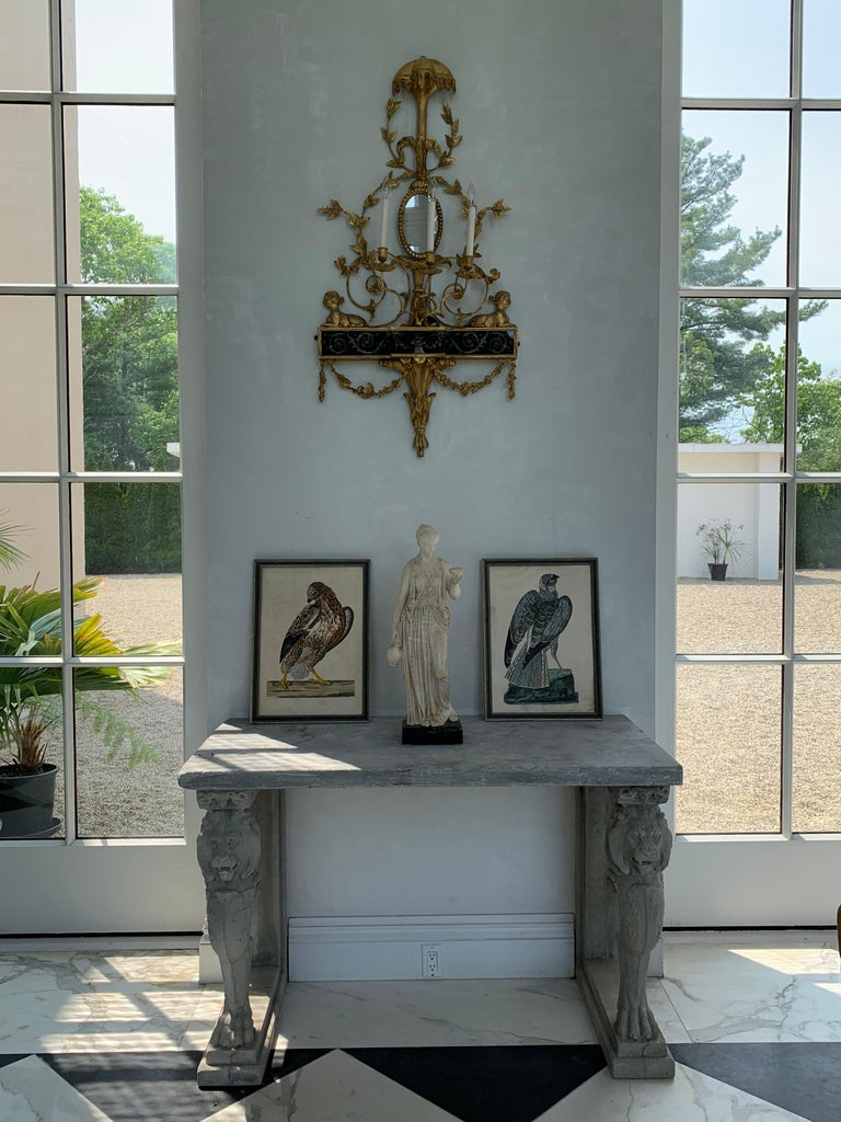 Pair of Neoclassical Wall Sconces For Sale 1