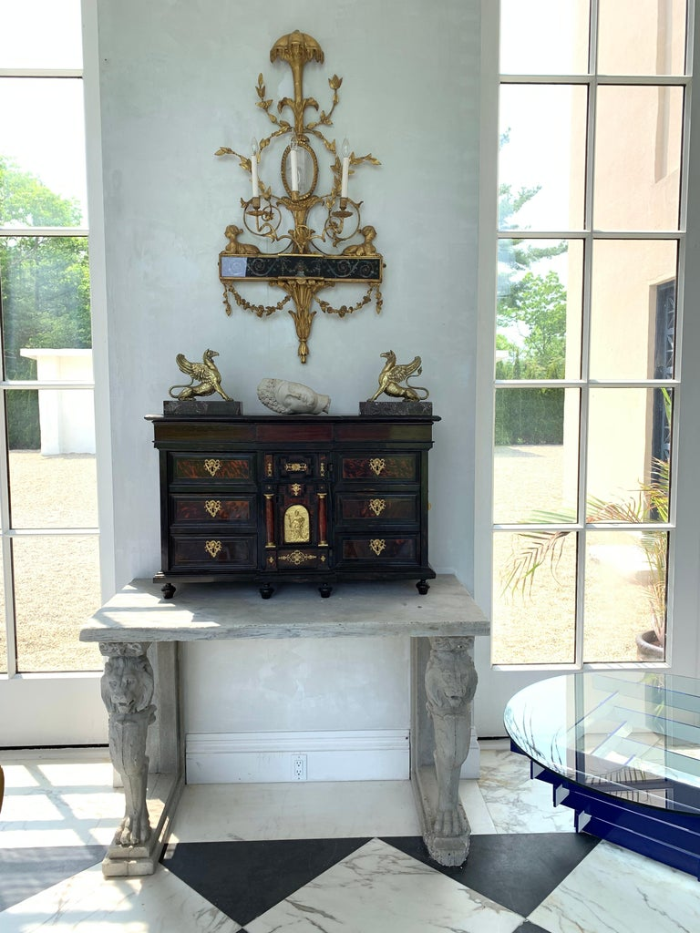Pair of Neoclassical Wall Sconces For Sale 2