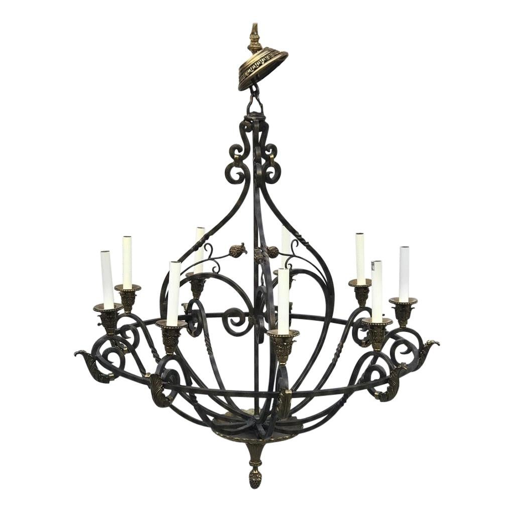 Meridian 4 Light Chandelier, Matte Black, Orb 18