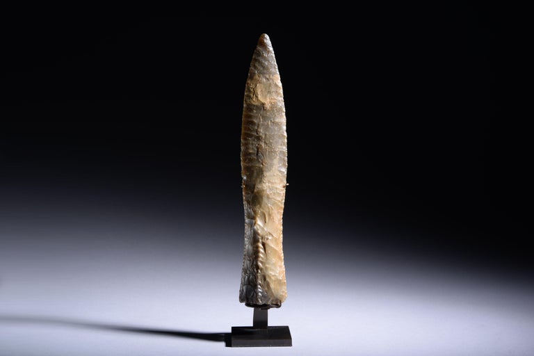 Neolithic Flint Dagger from Sweden, 2500 BC For Sale 6