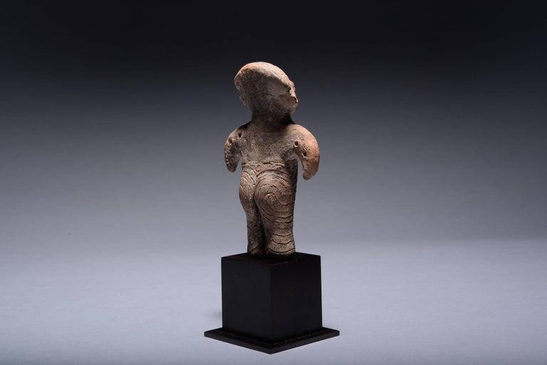 Neolithic Terracotta Vinca Idol, 4500 BC For Sale 3
