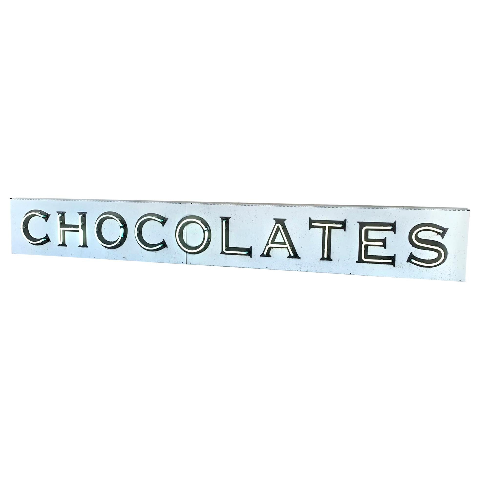 Neon Chocolates Sign