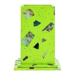 Neon Green Gemstone Terrazzo Pillar Vase