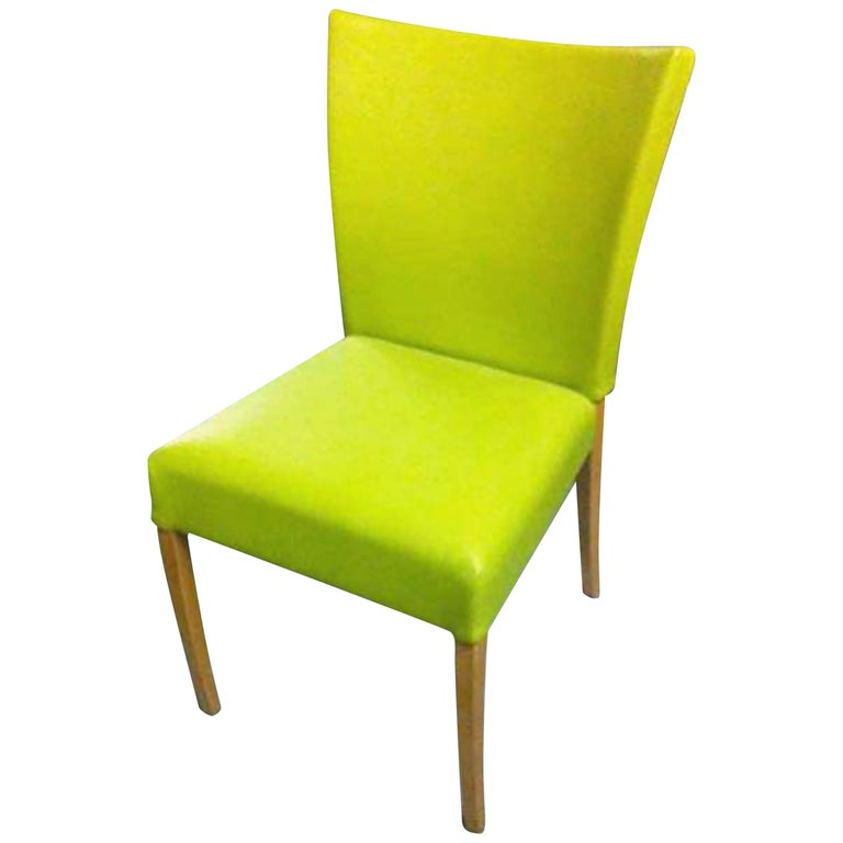 Montis Neon Green Set of Two Dione Side Chairs For Sale