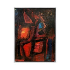 """Neon Gypsy"" Modernist Abstract Oil Painting by Daniel Buckler"