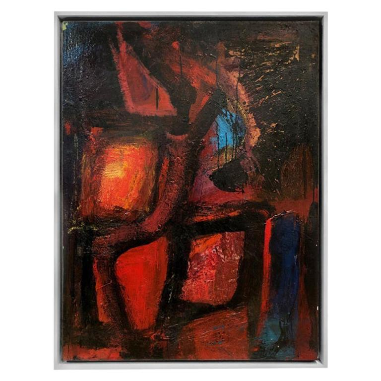 """""""Neon Gypsy"""" Modernist Abstract Oil Painting by Daniel Buckler"""