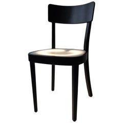 Neon Light Chair in Black-Lacquered Wood from Horgen Glarus for Hidden, 2000s
