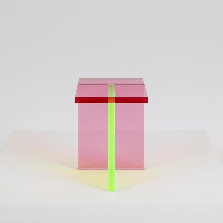 Modern Neon Stool Set in Acrylic by Umzikim For Sale