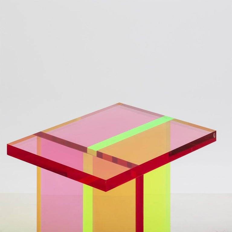 Korean Neon Stool Set in Acrylic by Umzikim For Sale