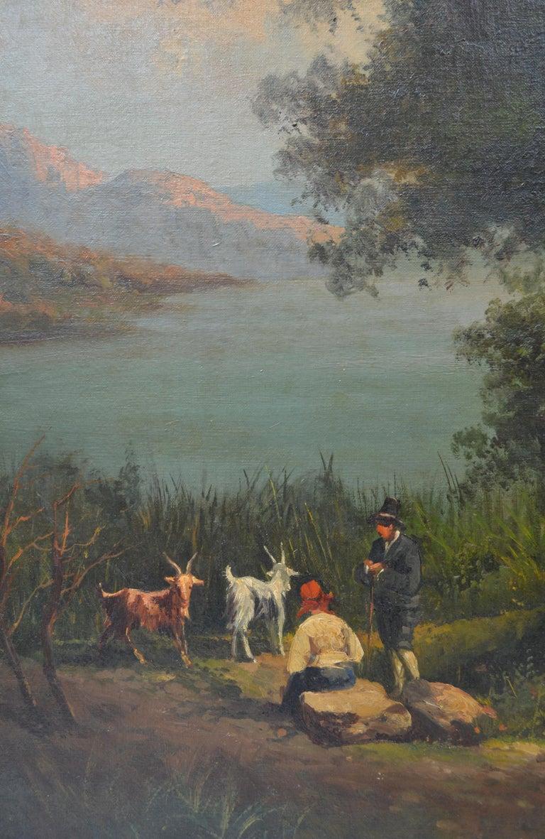 Italian Neopolitan School Landscape by 19th Century Artist Gabriele Smargiassi For Sale