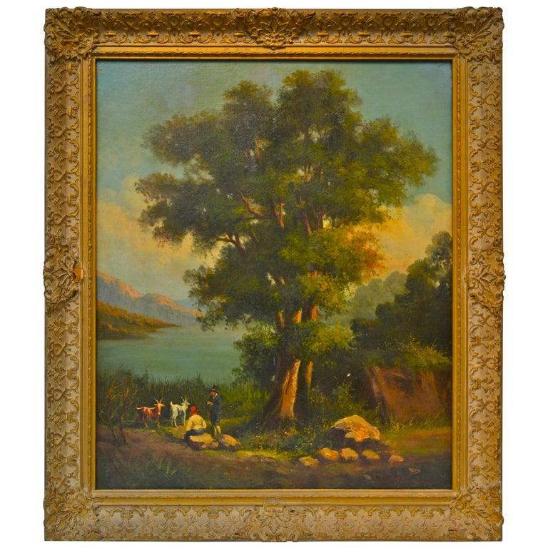 Neopolitan School Landscape by 19th Century Artist Gabriele Smargiassi For Sale