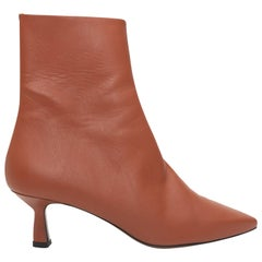 Neous Ancistro Rust Pointed-Toe Leather Ankle Boots