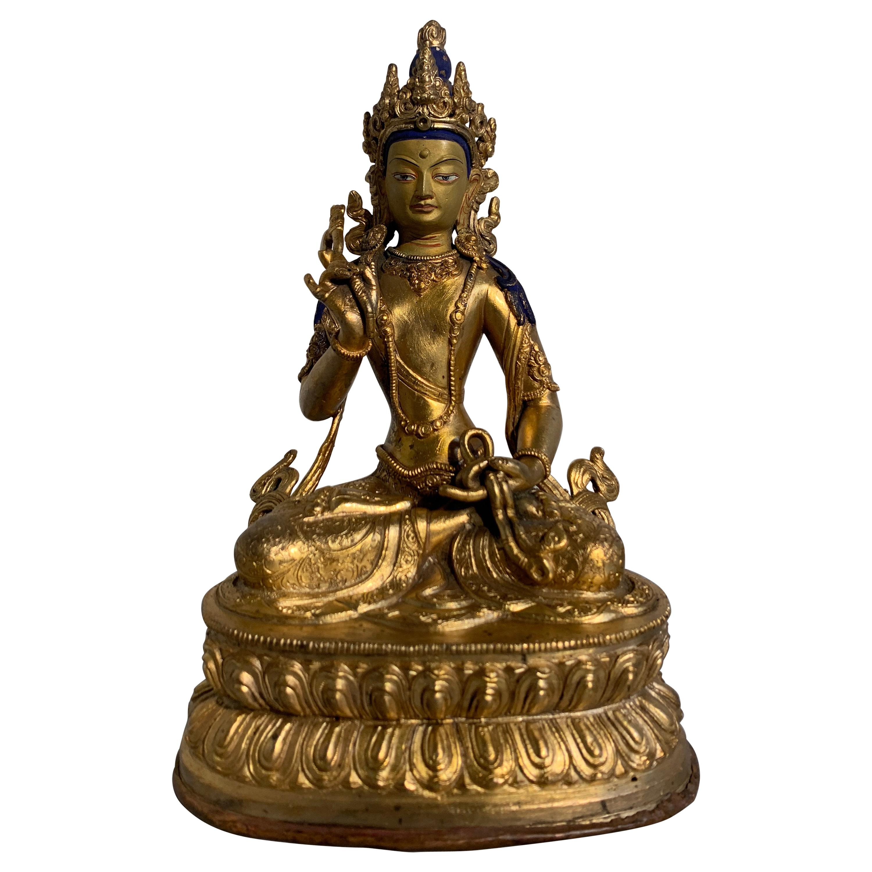 Nepalese Gilt Bronze Bodhisattva 'Amoghapasha?', Early to Mid-20th Century