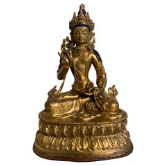 Nepalese Gilt Bronze Bodhisattva 'Amoghapasha?', Early to Mid-20th Century