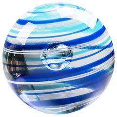 Neptune Glass Sphere by Vittore Frattini