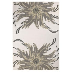 Neptuno Rug in Hand-Tufted Wool and Bamboo Silk