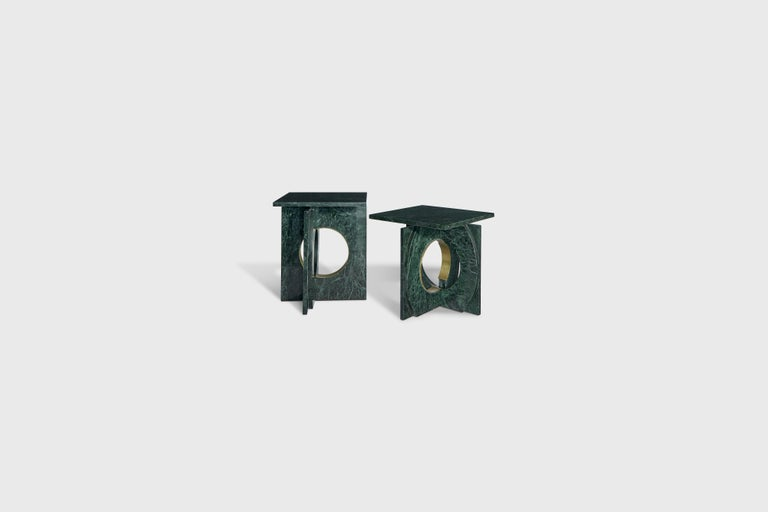 Starting price: $3500  Marble side table pictured in green Verve Alpi Pulido Brillado .  As a new addition to Atra's collection of coffee and side tables, the neptuno line pays homage to the work of the Italian architect Carlo Scarpa. Like in