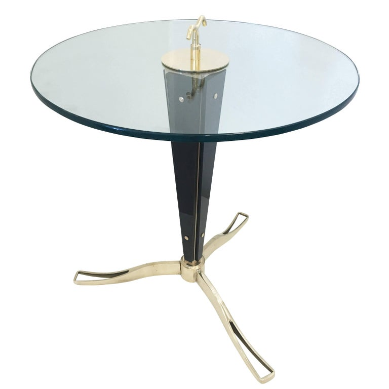 Nero Glass Side Table by Daniele Bottacin for Gaspare Asaro
