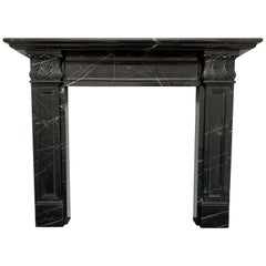 Nero Marquina Marble Fireplace