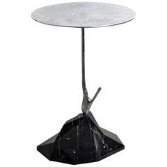 Nero Marquinia Marble Scultura Side Table