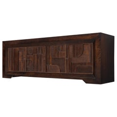 Nerone and Patuzzi for Gruppo NP2 Constructivism Wooden Sideboard