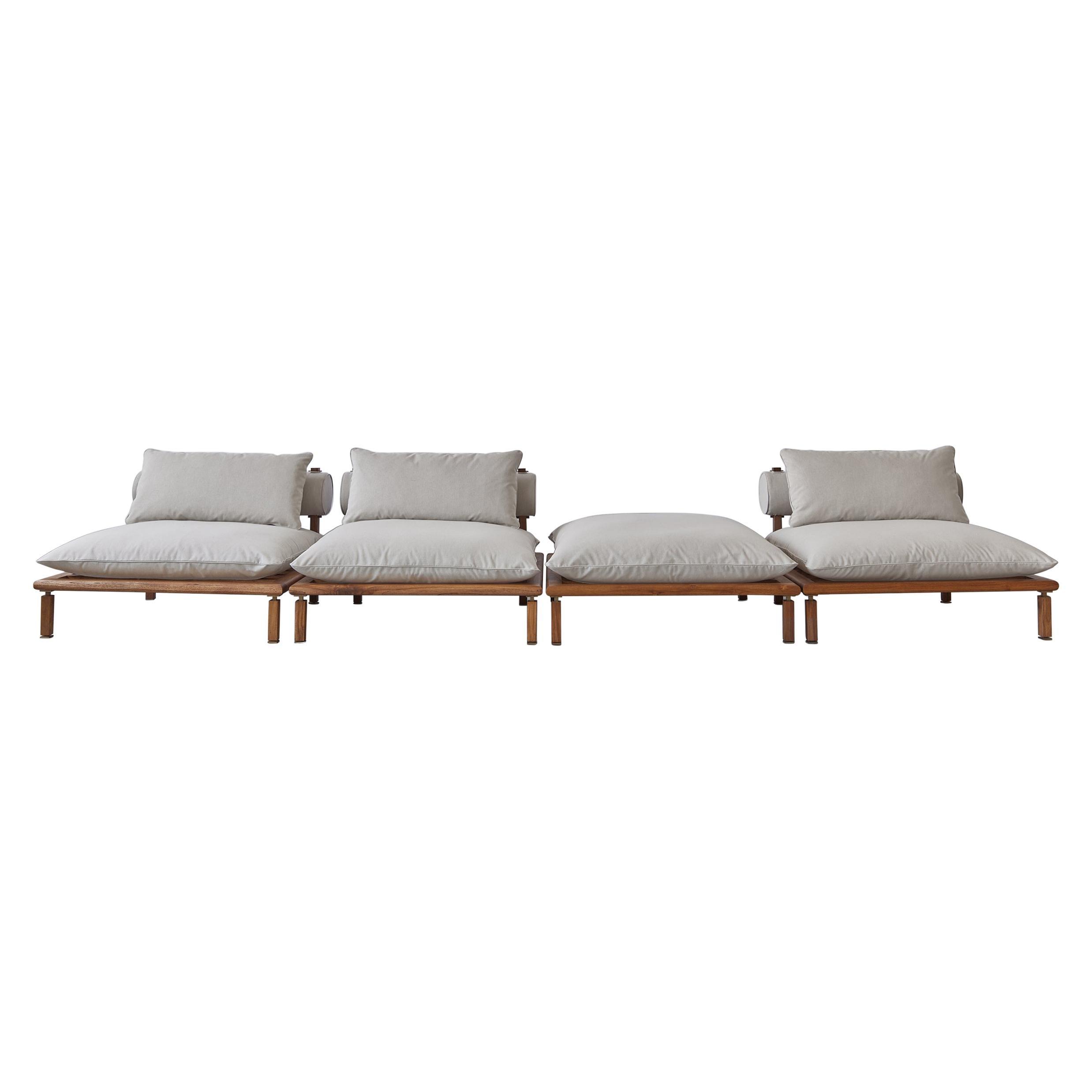 Nerthus Indoor Outdoor Sofa in Mahogany by ATRA